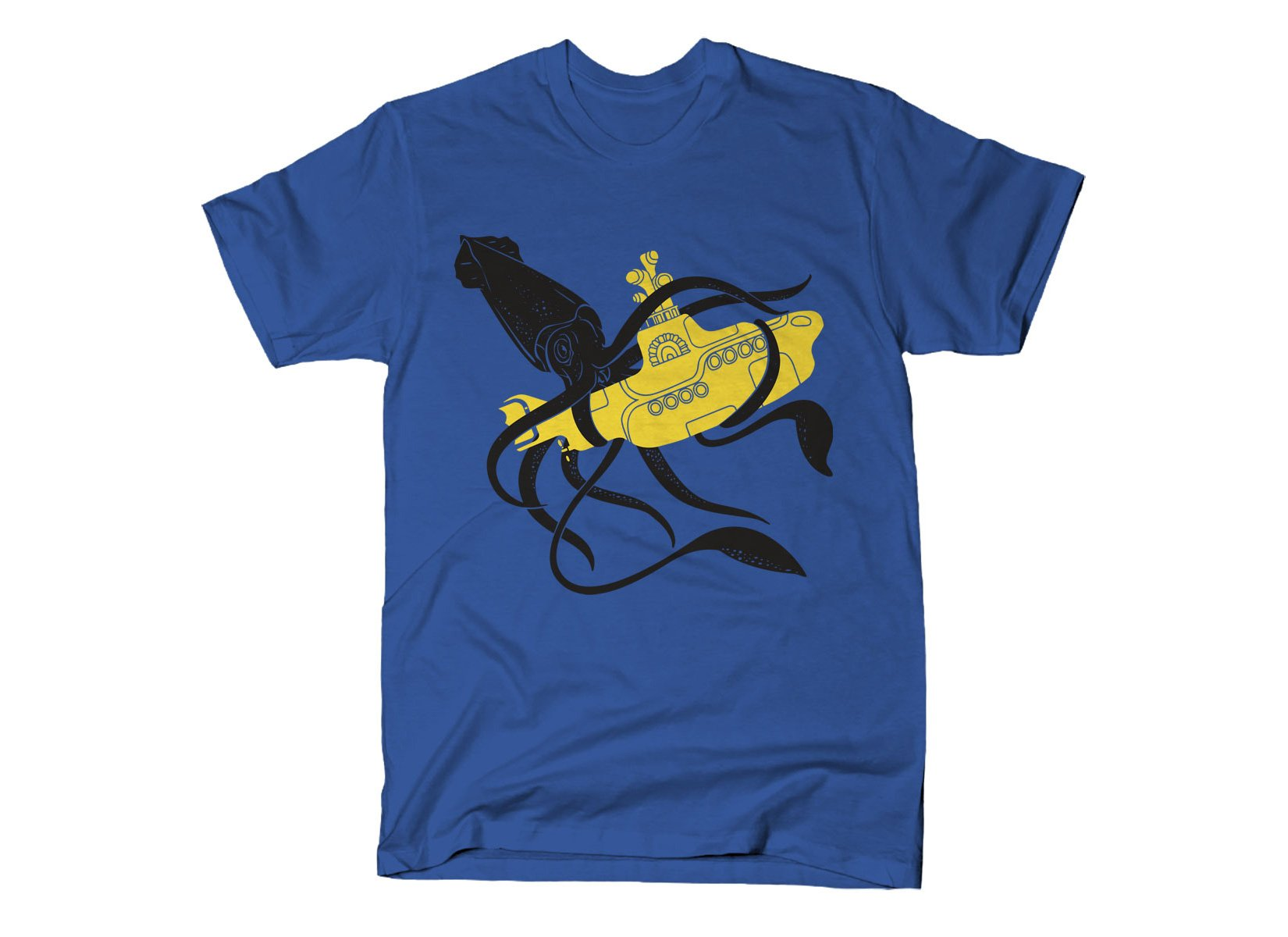 Squid Sub Battle on Mens T-Shirt