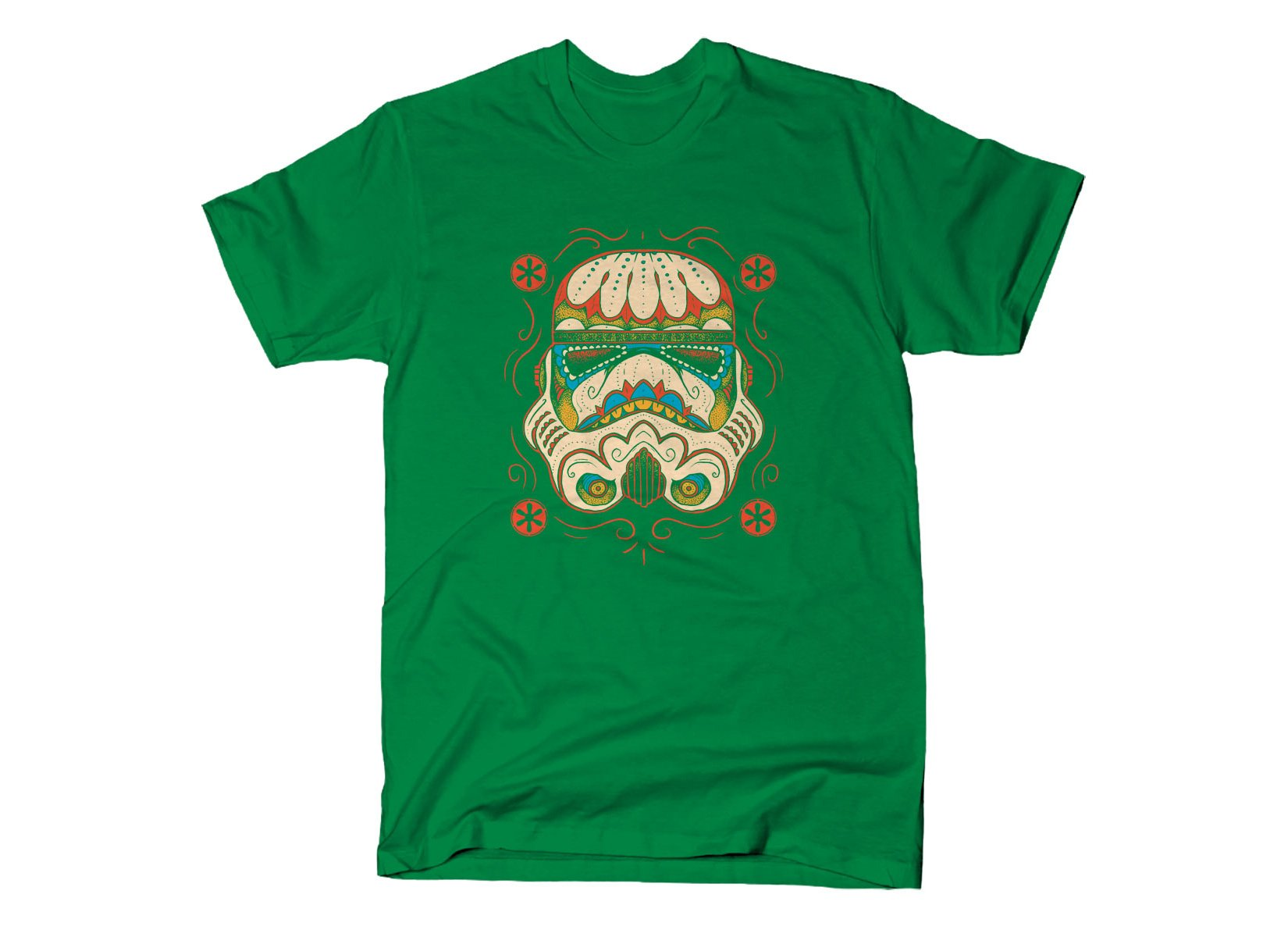 Sugar Skull Trooper on Mens T-Shirt