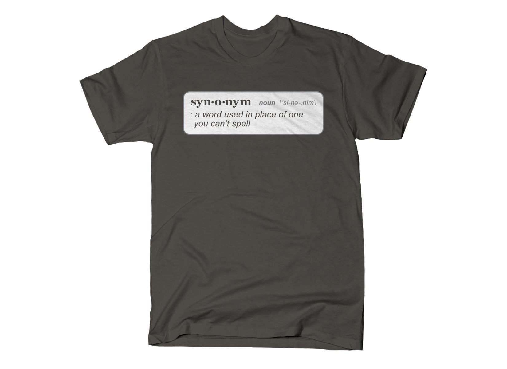 Synonym Definition on Mens T-Shirt