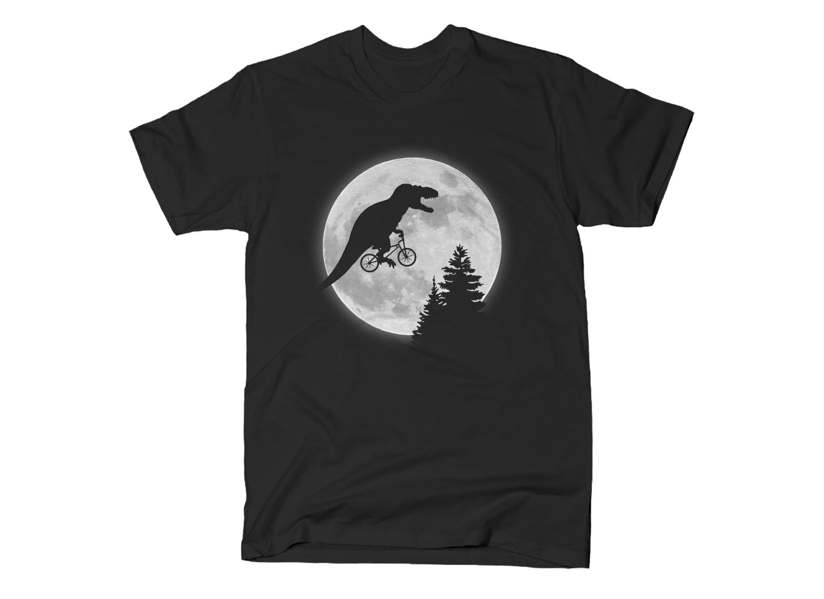 T-Rex Moon on Mens T-Shirt