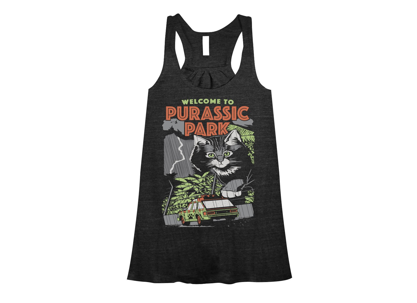 Purassic Park on Womens Tanks T-Shirt