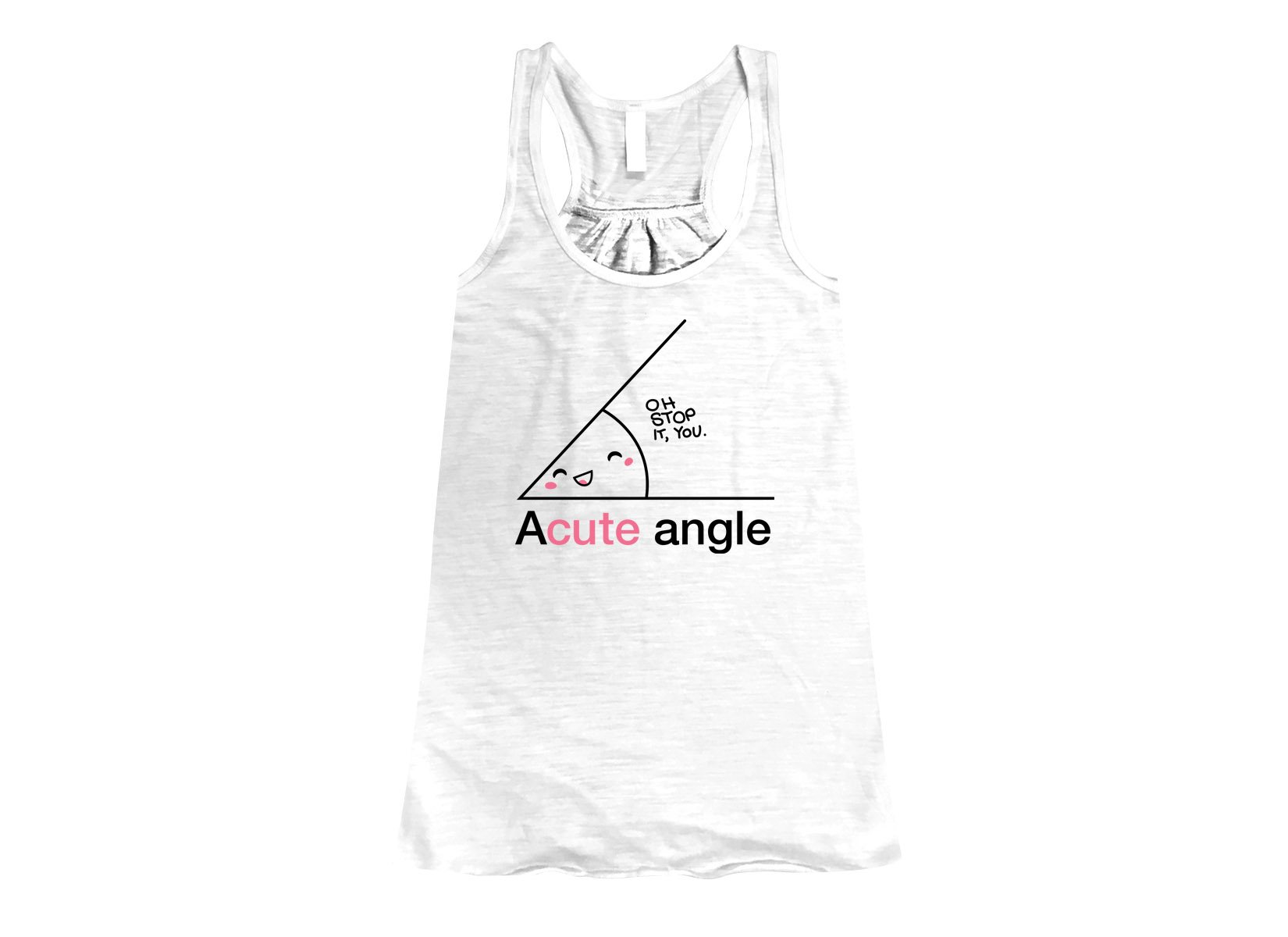 Acute Angle on Womens Tanks T-Shirt