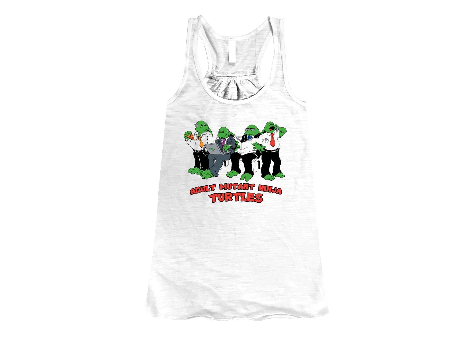 Adult Mutant Ninja Turtles on Womens Tanks T-Shirt