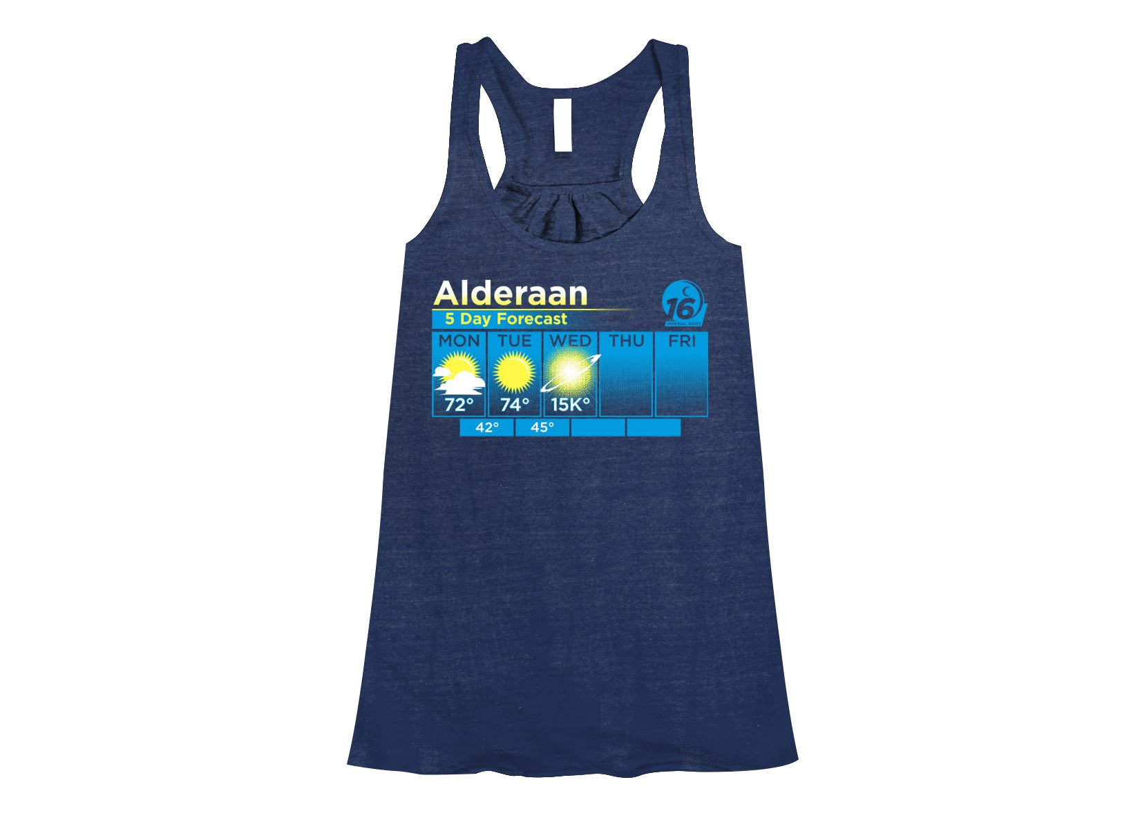 Alderaan 5 Day Forecast on Womens Tanks T-Shirt