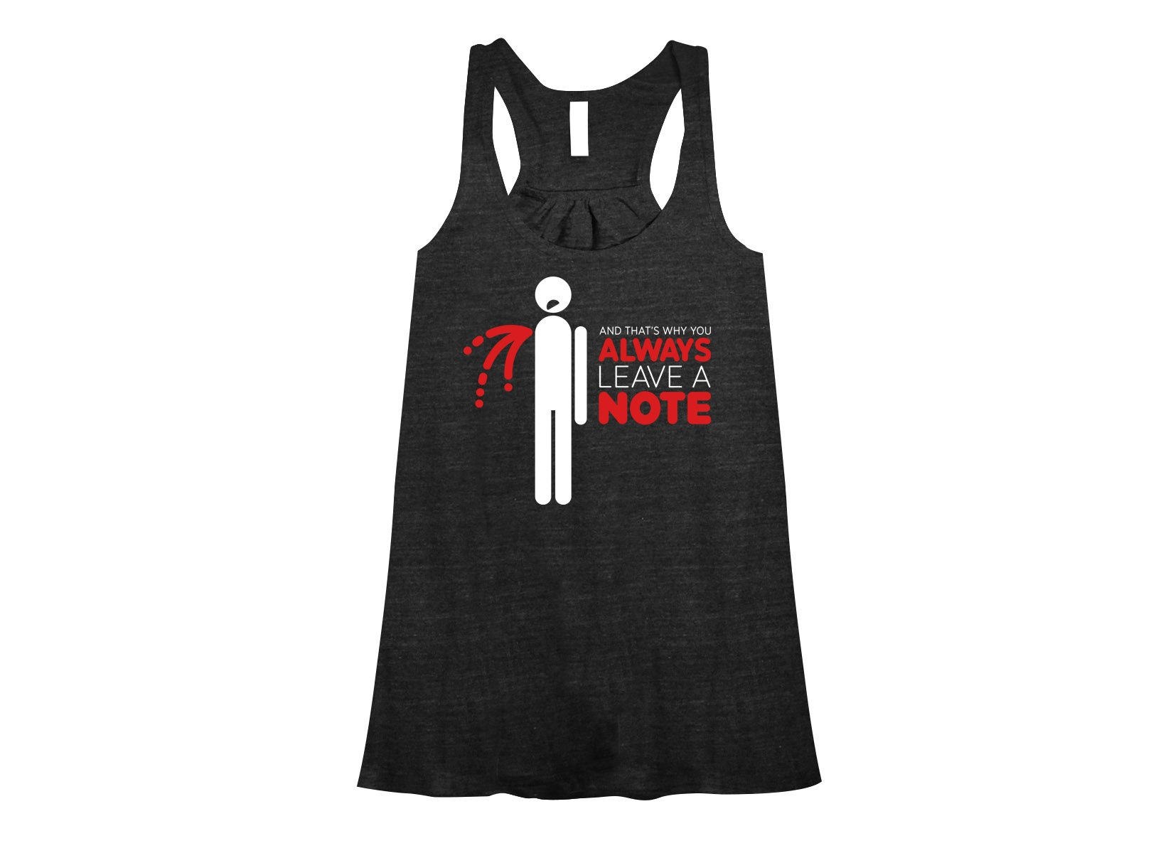 Always Leave A Note on Womens Tanks T-Shirt