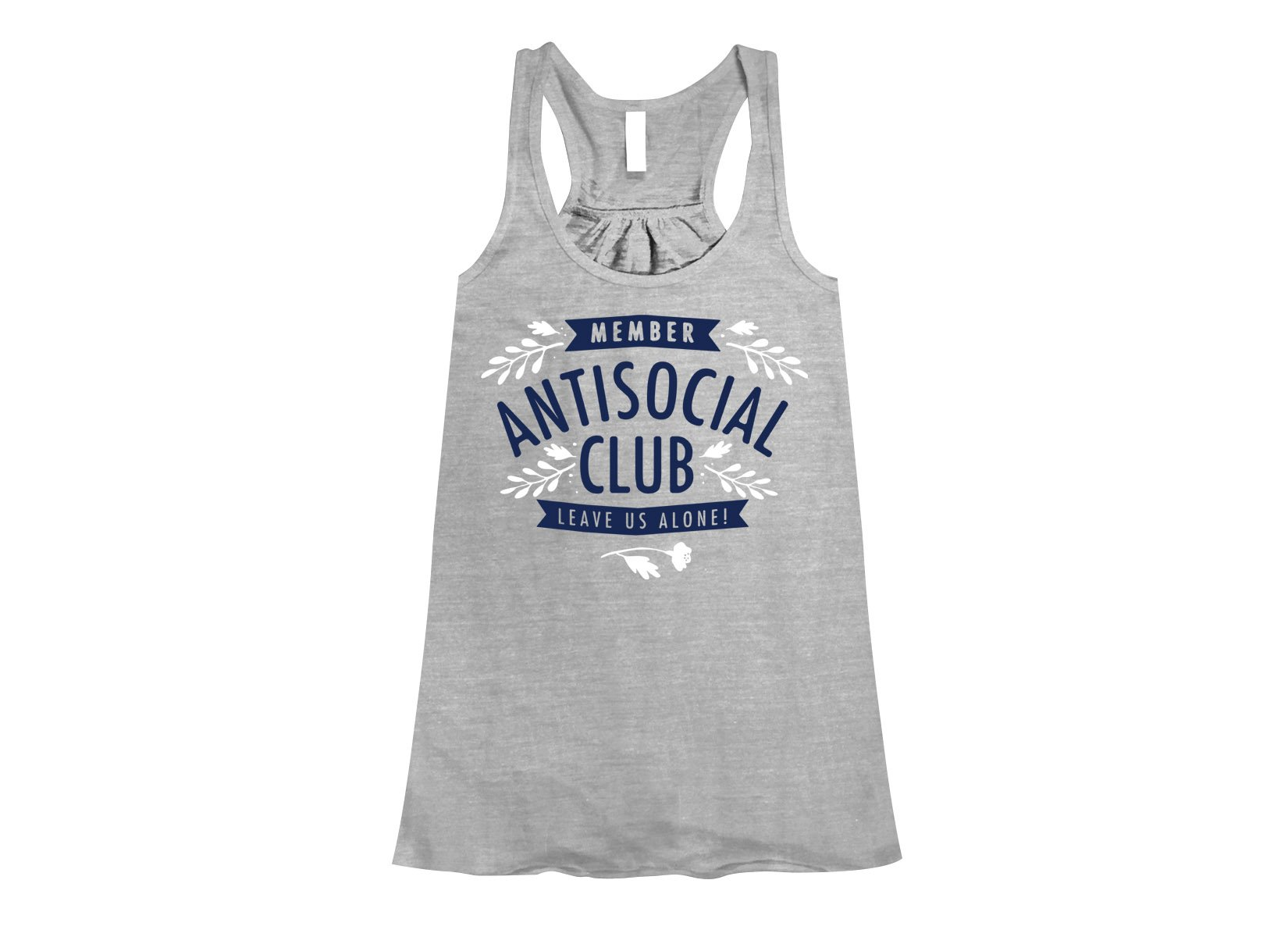 Antisocial Club on Womens Tanks T-Shirt
