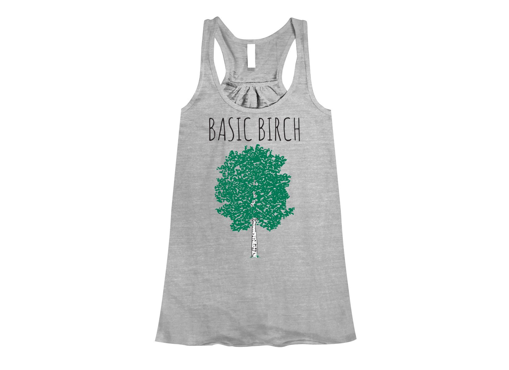 Basic Birch on Womens Tanks T-Shirt
