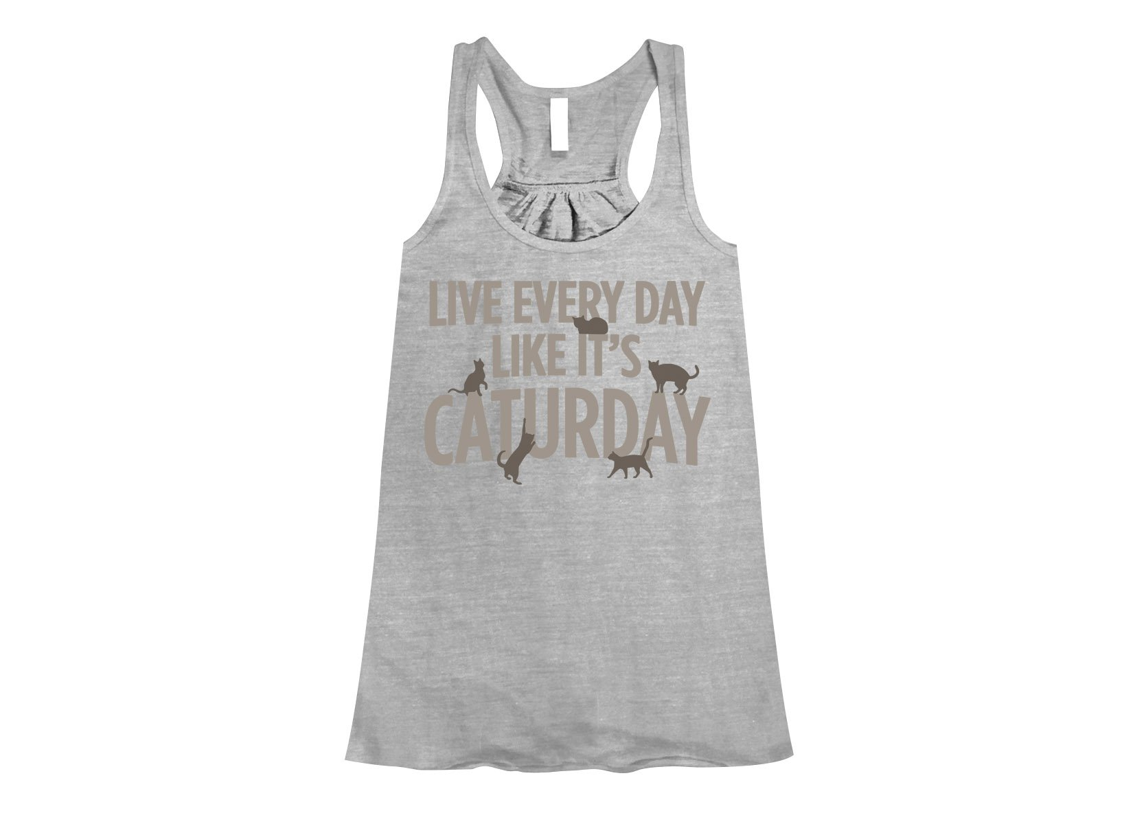 Live Every Day Like It's Caturday on Womens Tanks T-Shirt