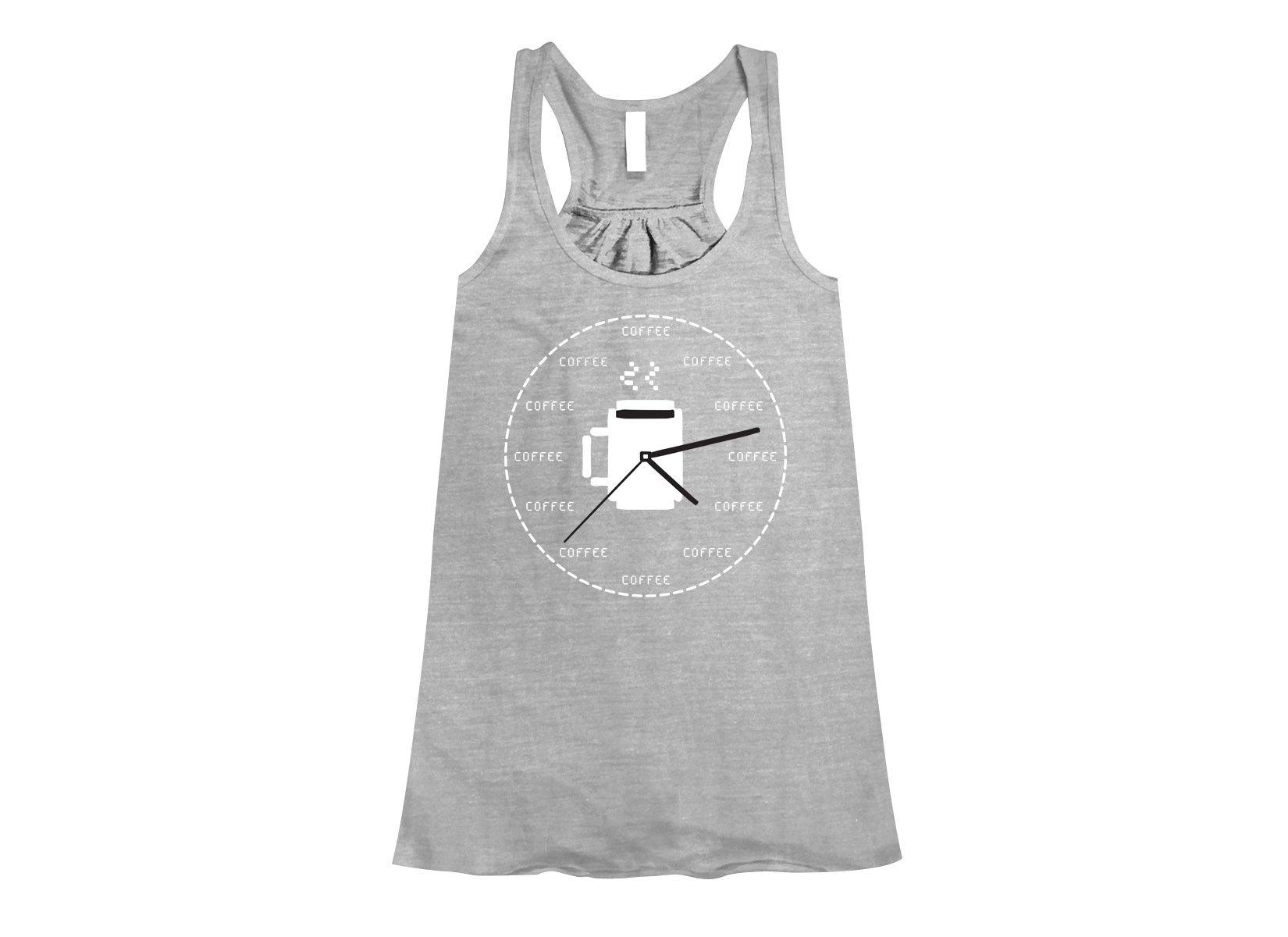 Coffee O'Clock on Womens Tanks T-Shirt