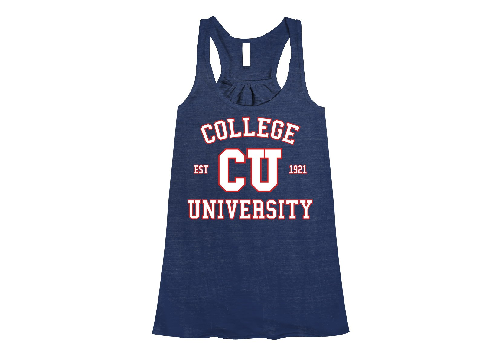 College University on Womens Tanks T-Shirt