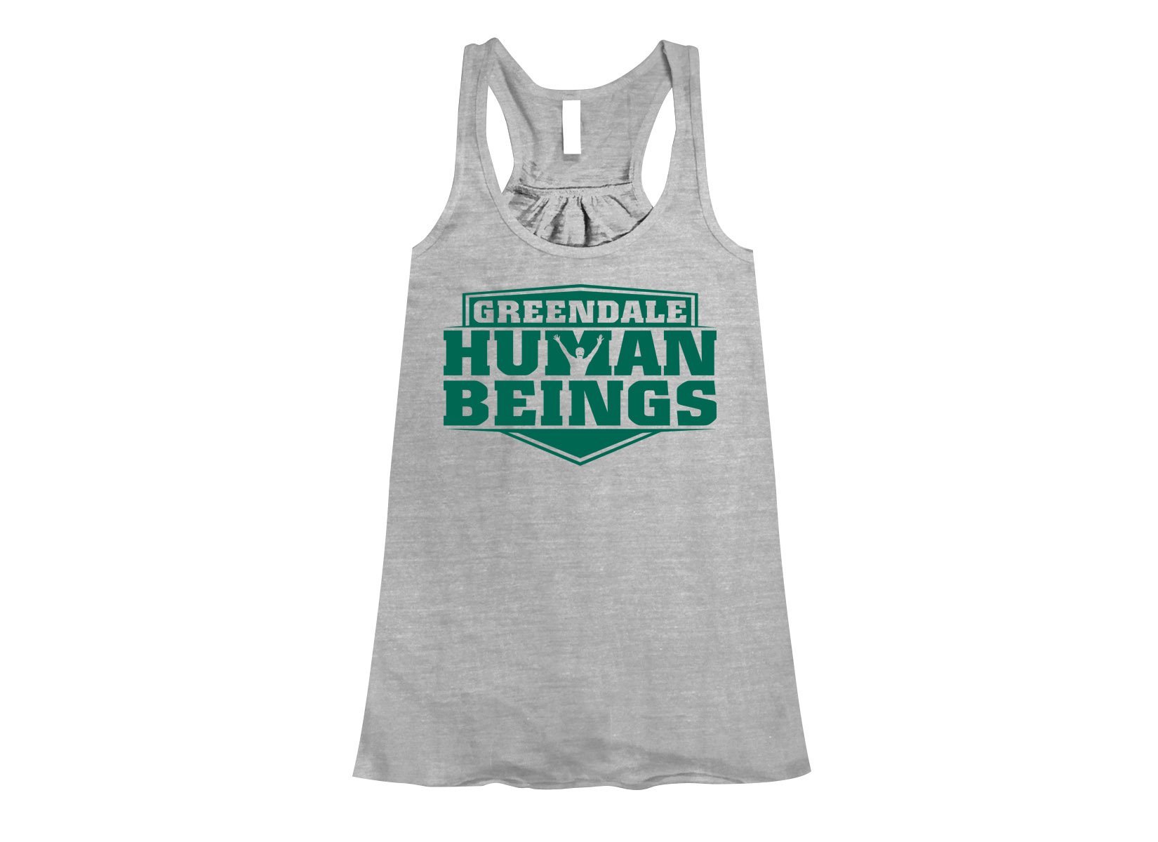 Greendale Human Beings on Womens Tanks T-Shirt