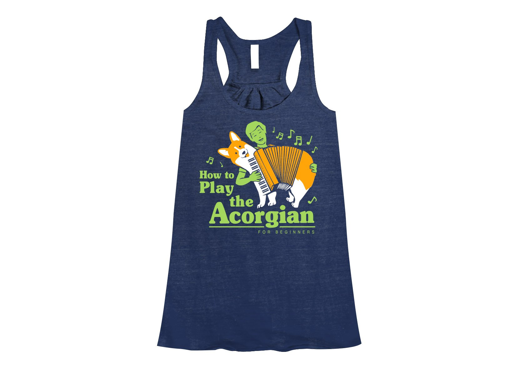 How To Play The Acorgian on Womens Tanks T-Shirt
