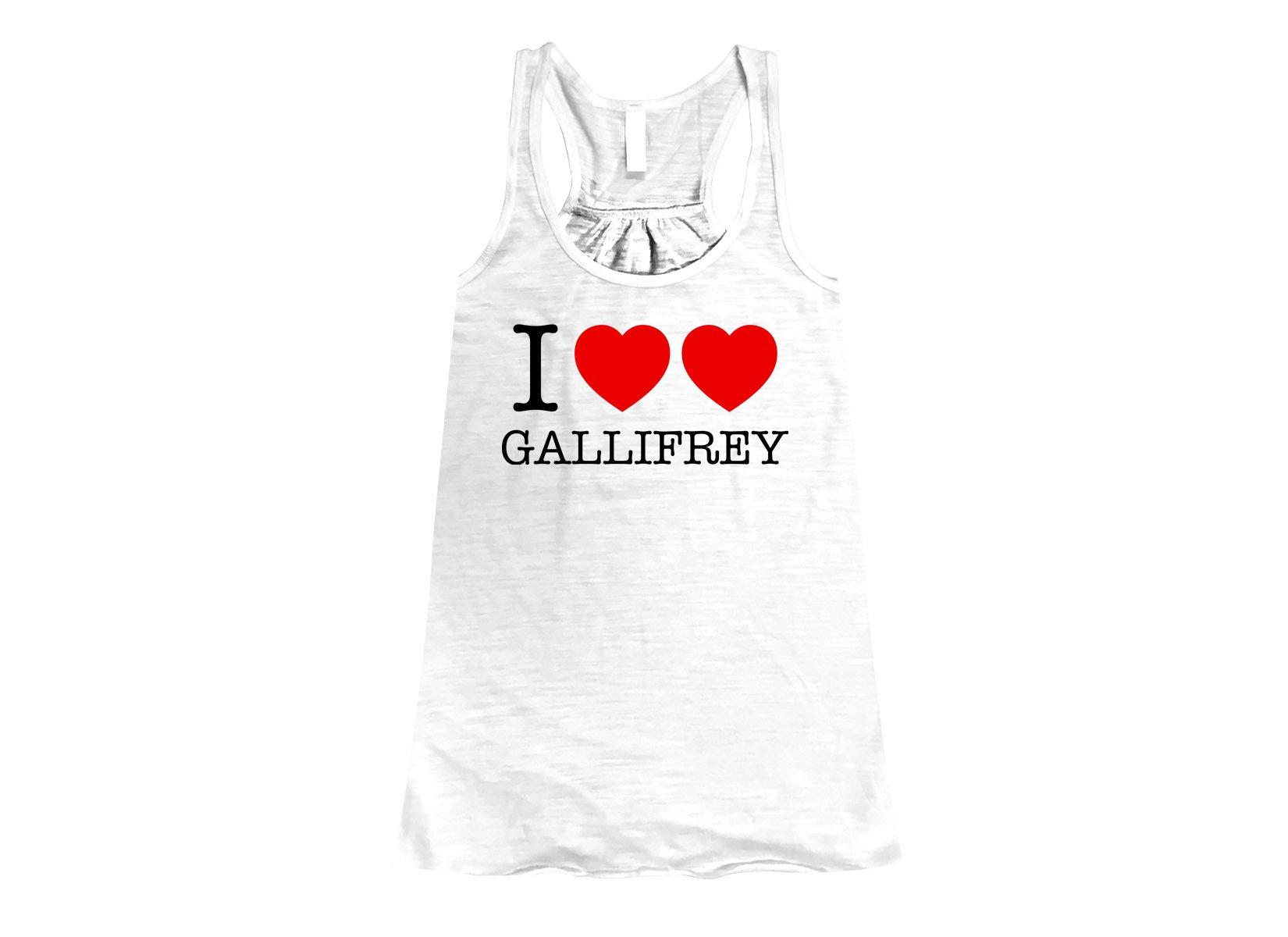 I Heart Heart Gallifrey on Womens Tanks T-Shirt