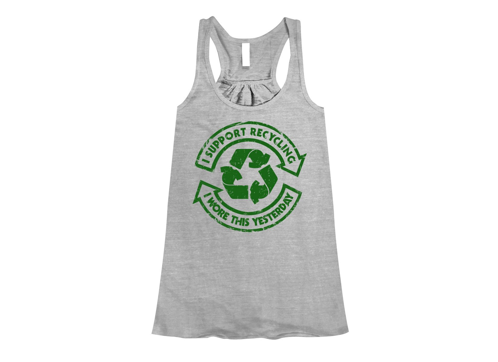 I Support Recycling on Womens Tanks T-Shirt