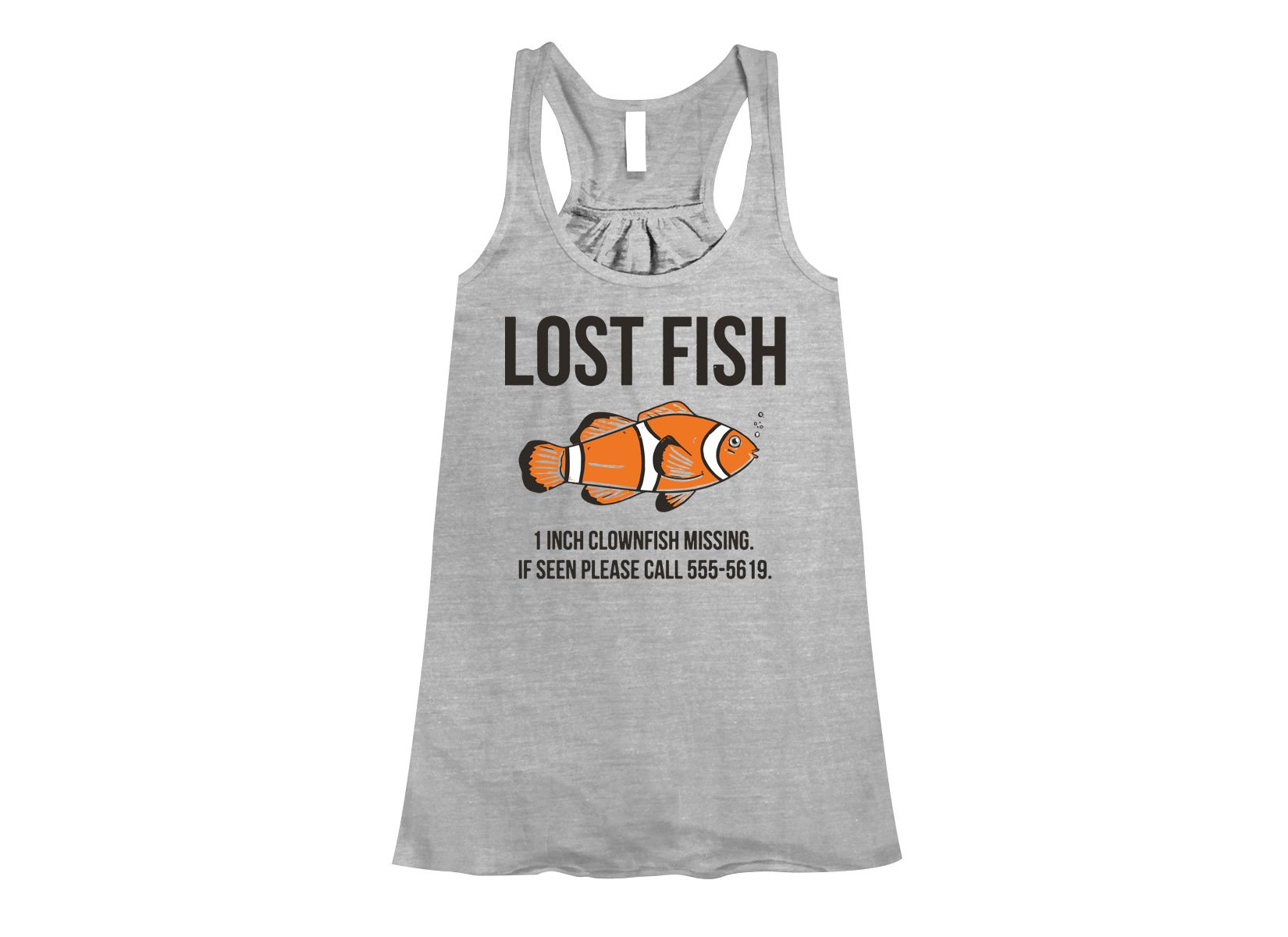 Lost Fish on Womens Tanks T-Shirt