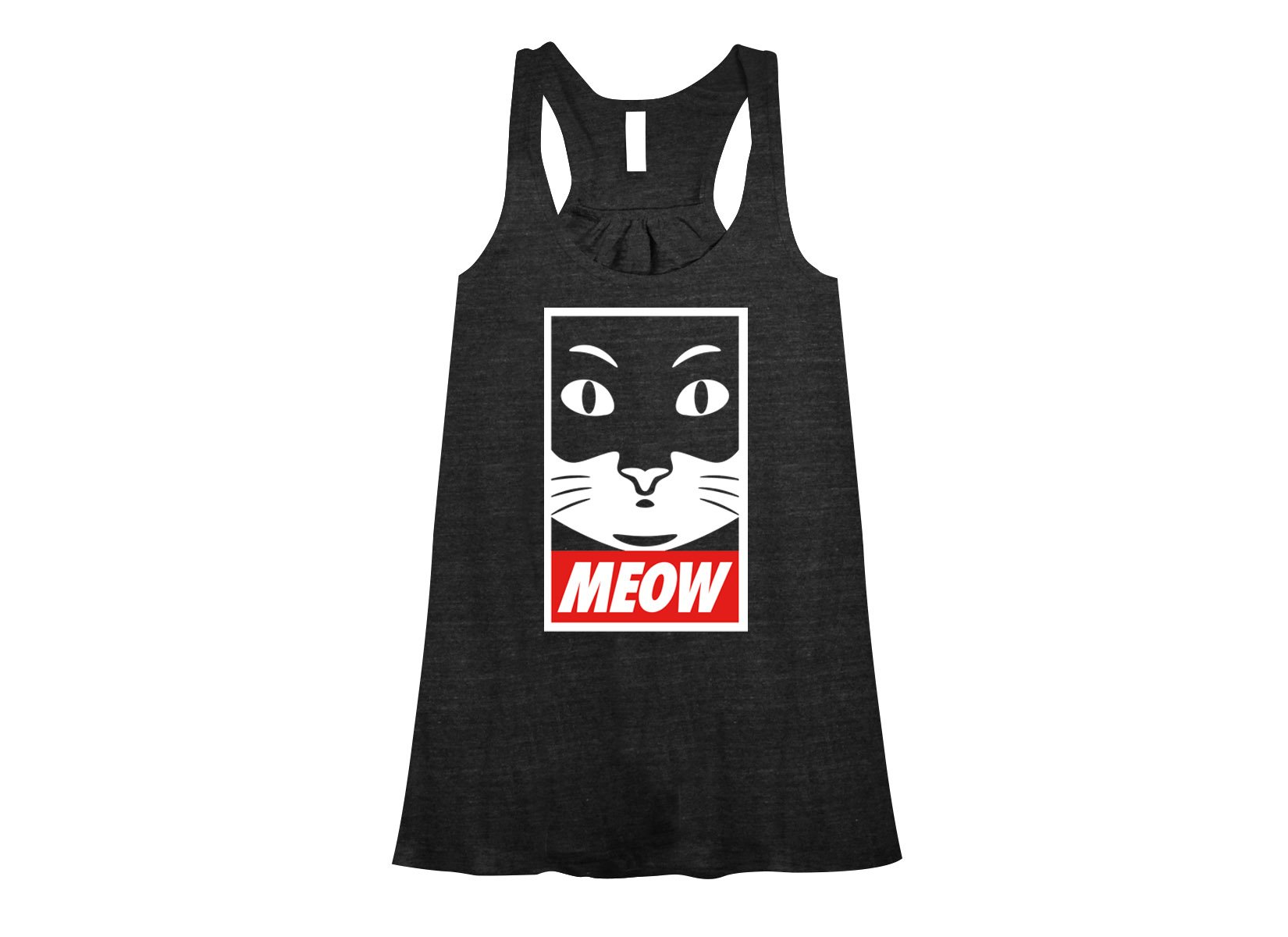 Meow on Womens Tanks T-Shirt