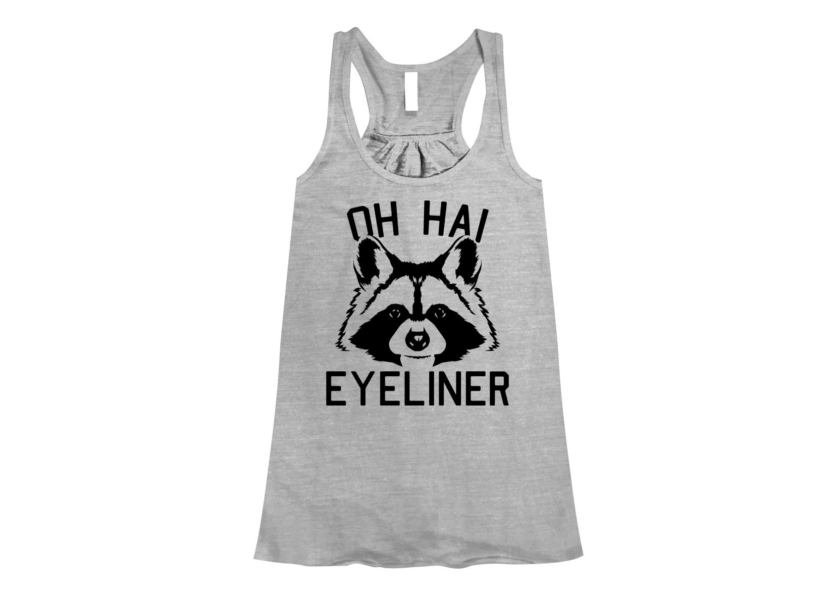 Oh Hai Eyeliner on Womens Tanks T-Shirt