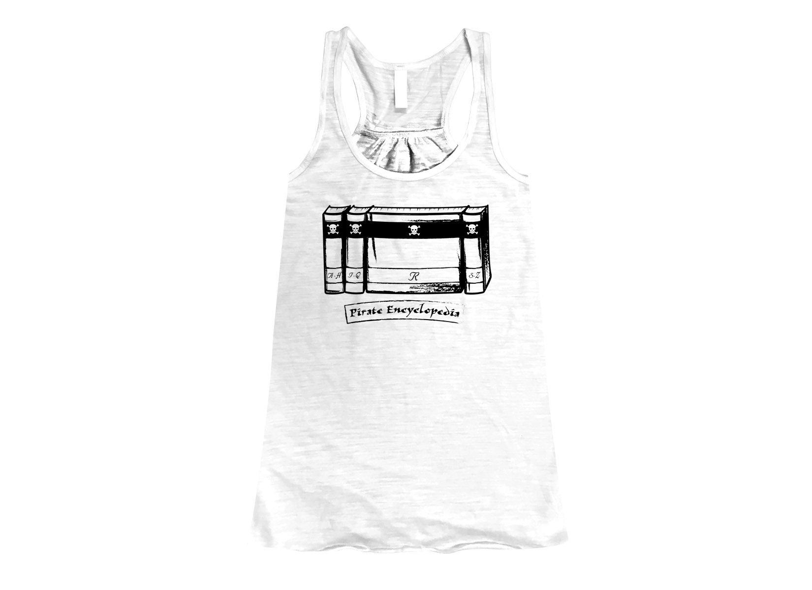 Pirate Encyclopedia on Womens Tanks T-Shirt