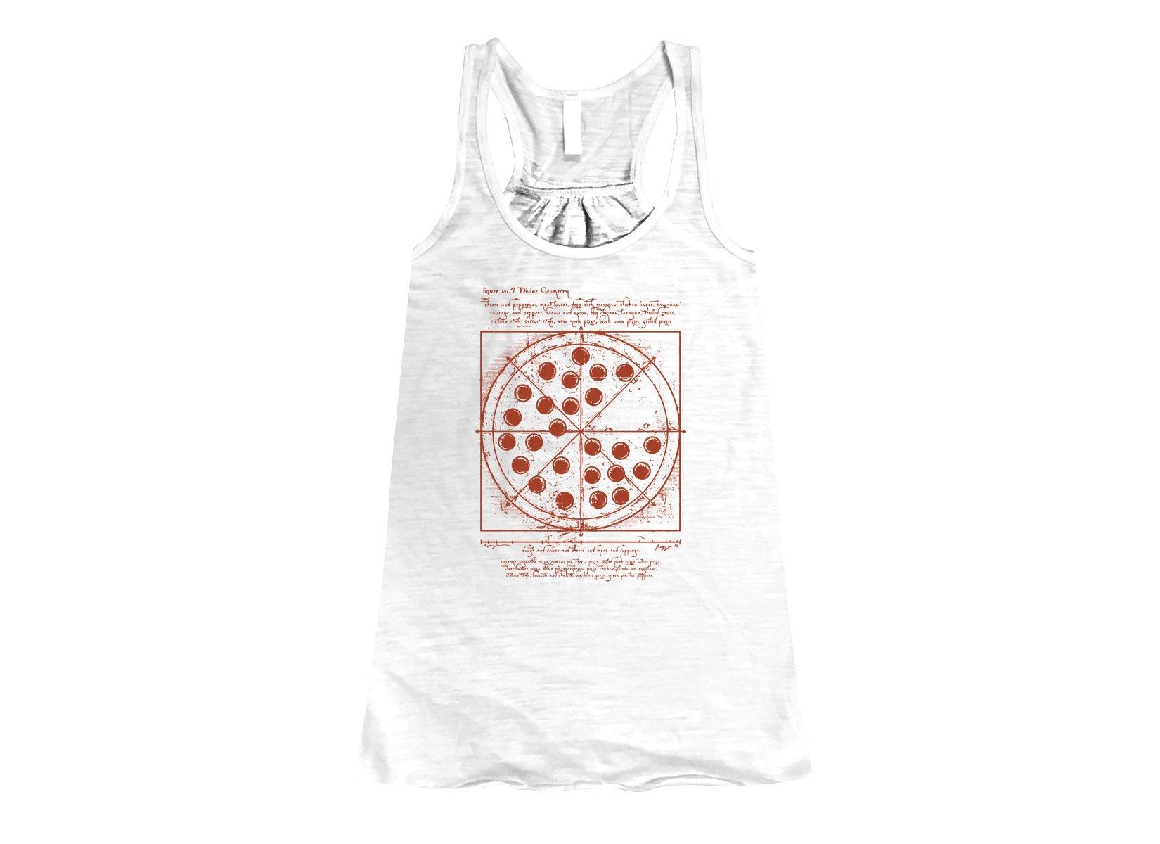 Vitruvian Pizza on Womens Tanks T-Shirt