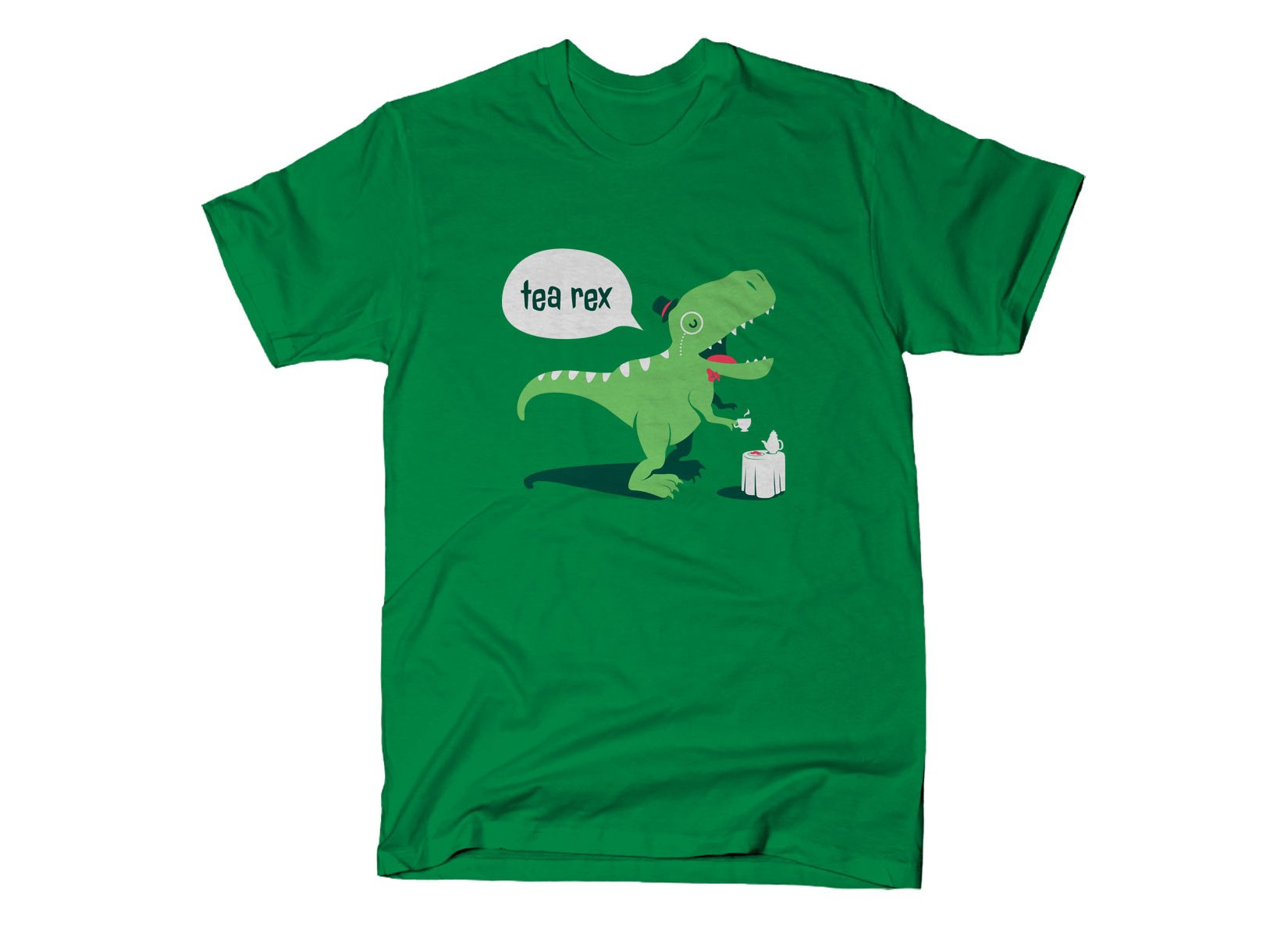 Tea Rex on Mens T-Shirt