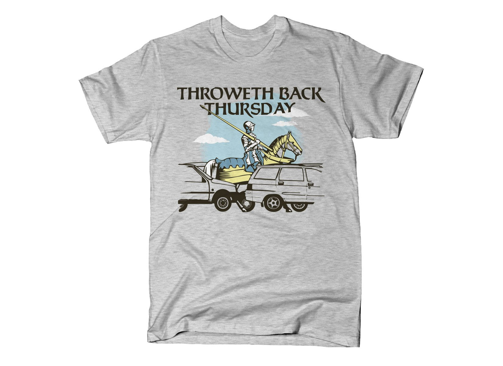 Throweth Back Thursday on Mens T-Shirt
