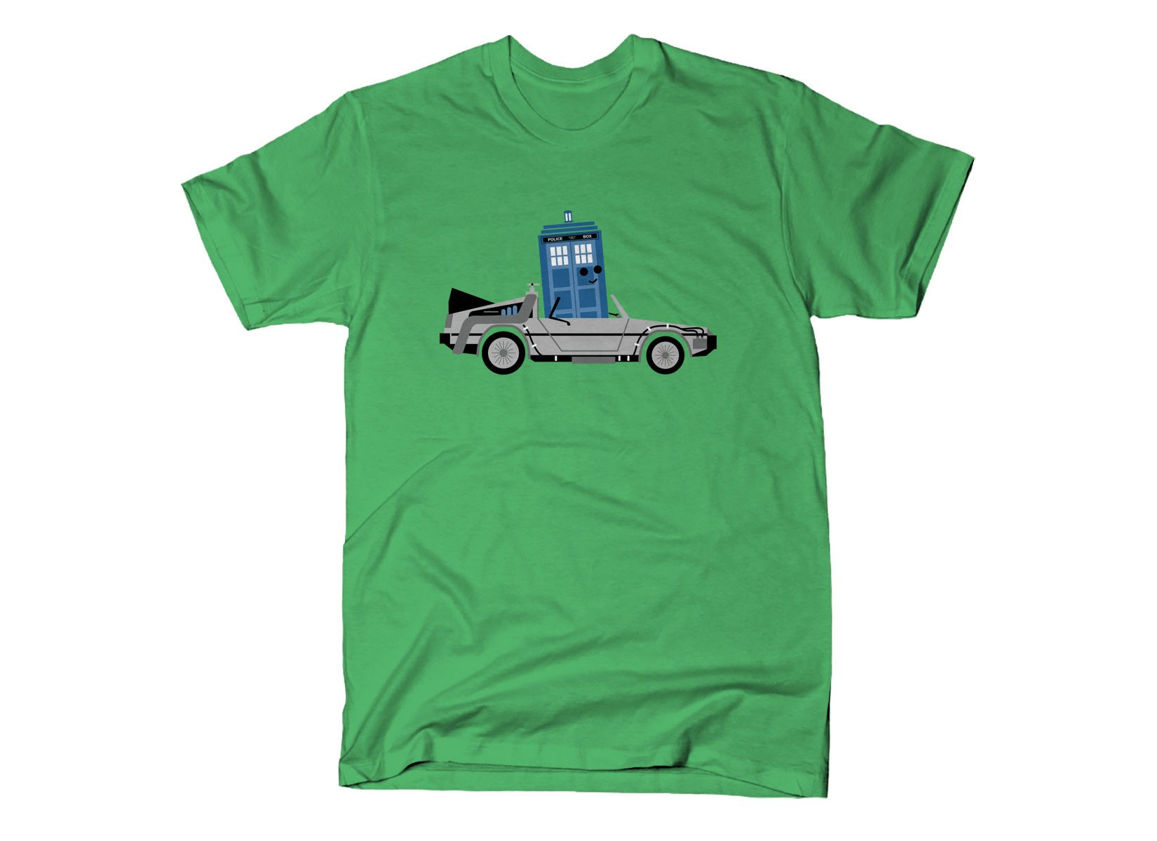 Time Machine x Two on Mens T-Shirt