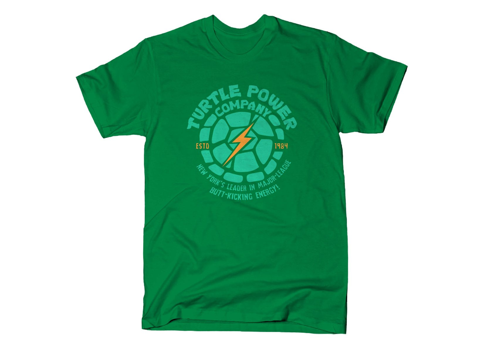 Turtle Power Company on Mens T-Shirt