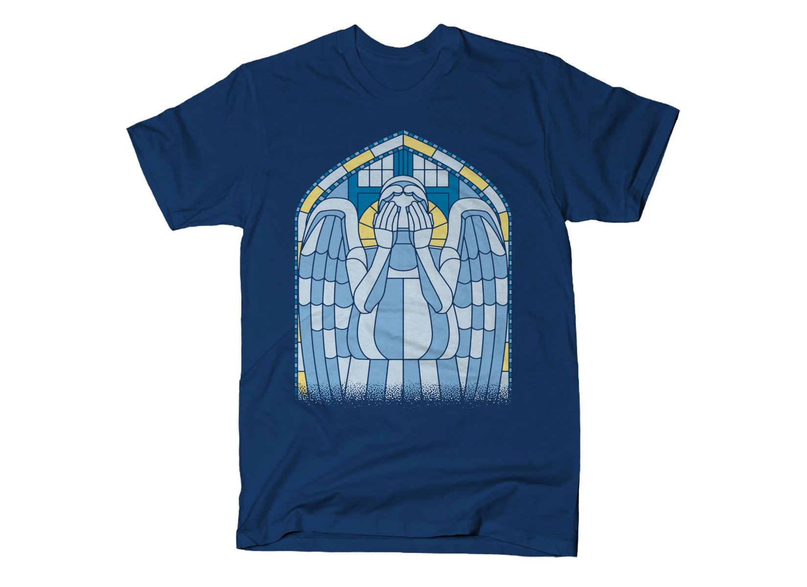 Weeping Angel on Mens T-Shirt