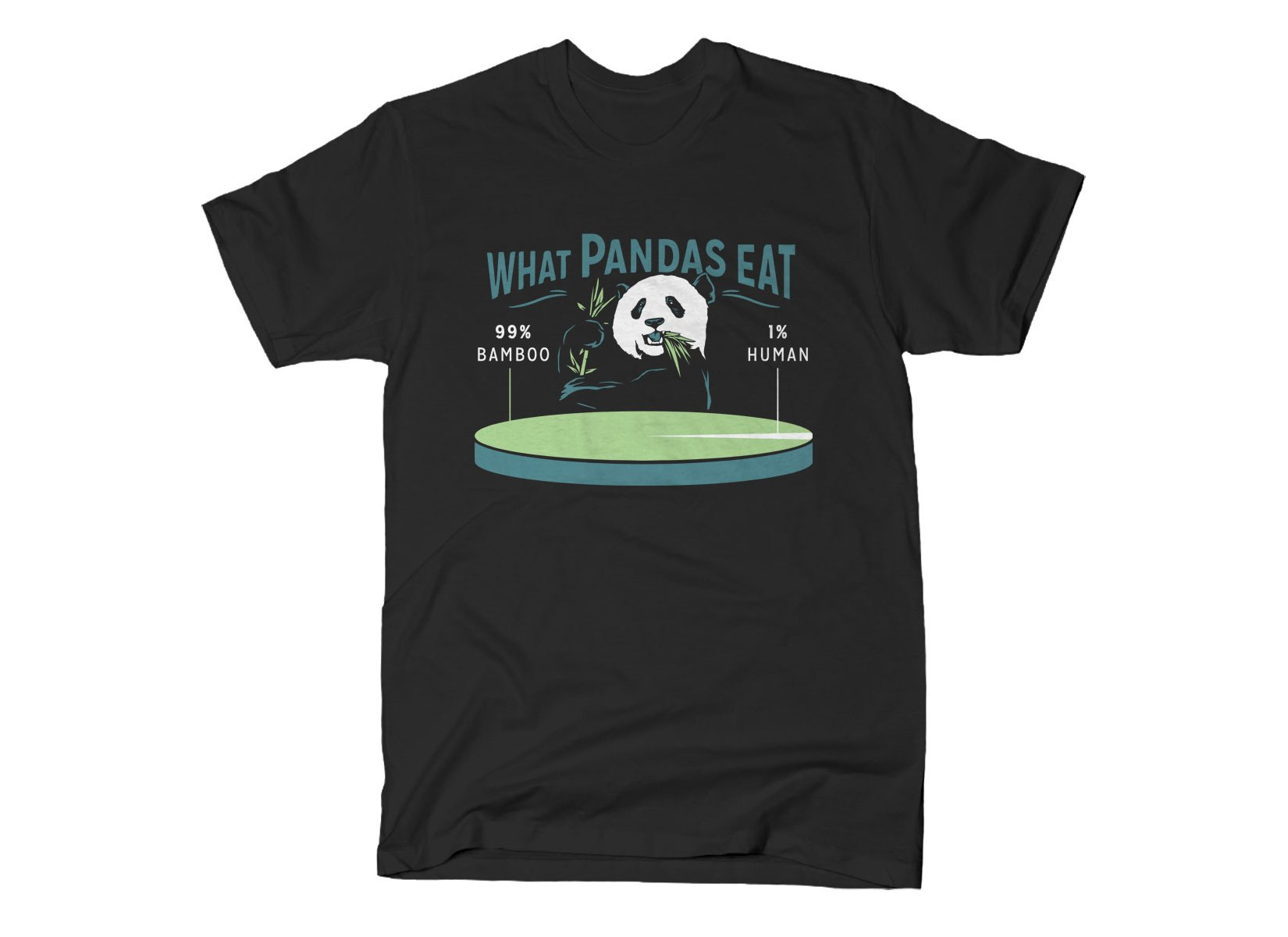 What Pandas Eat on Mens T-Shirt