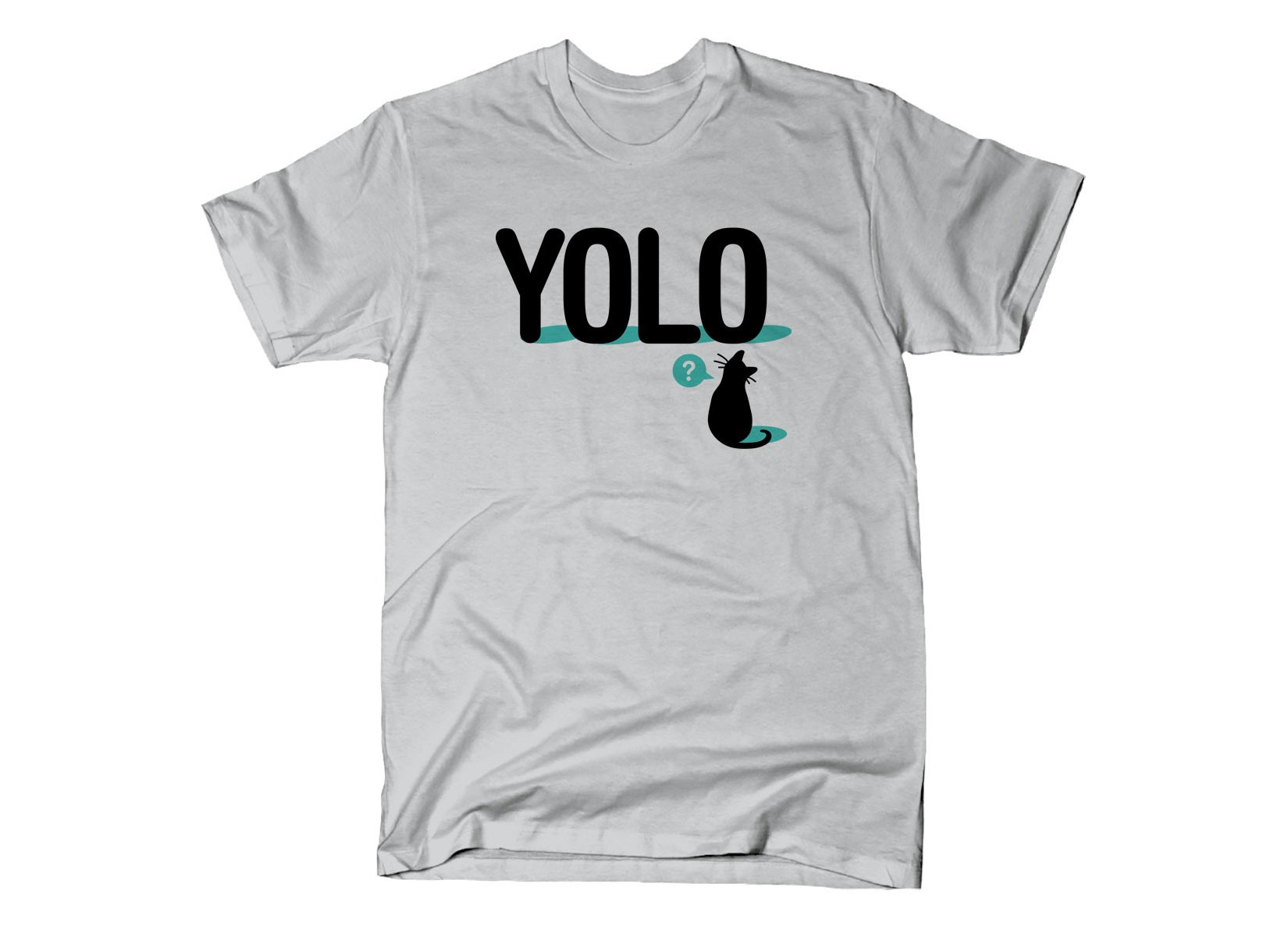 YOLO Cat on Mens T-Shirt