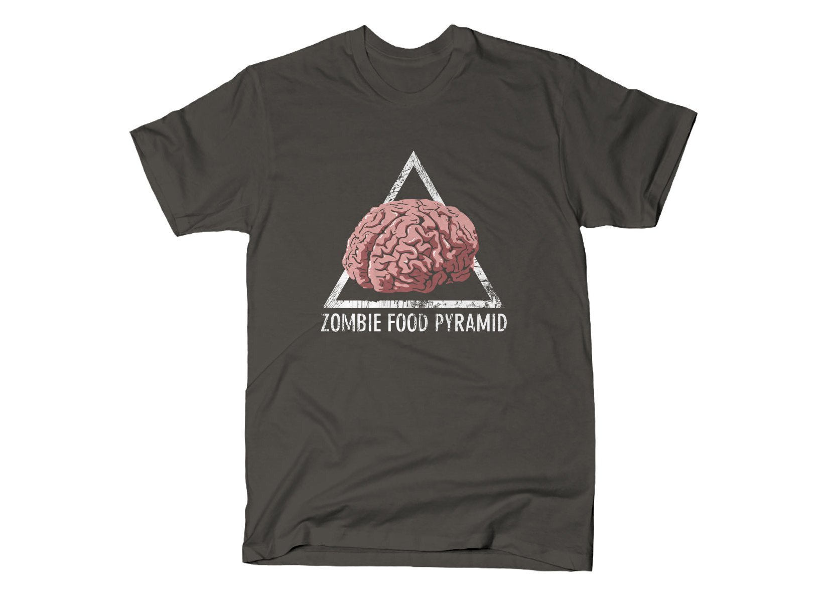 Zombie Food Pyramid on Mens T-Shirt