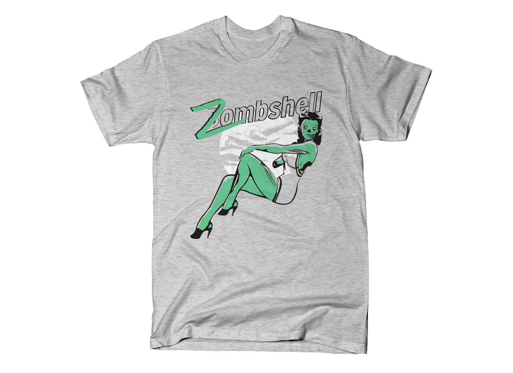 Zombshell on Mens T-Shirt