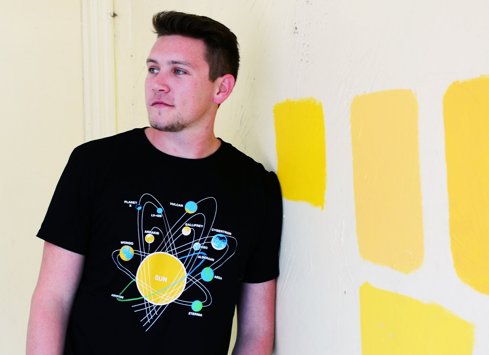 Solar System on Mens T-Shirt