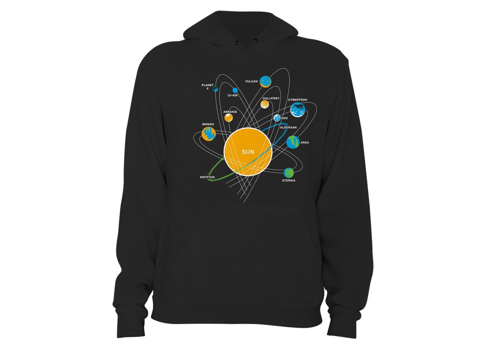 Solar System on Hoodie