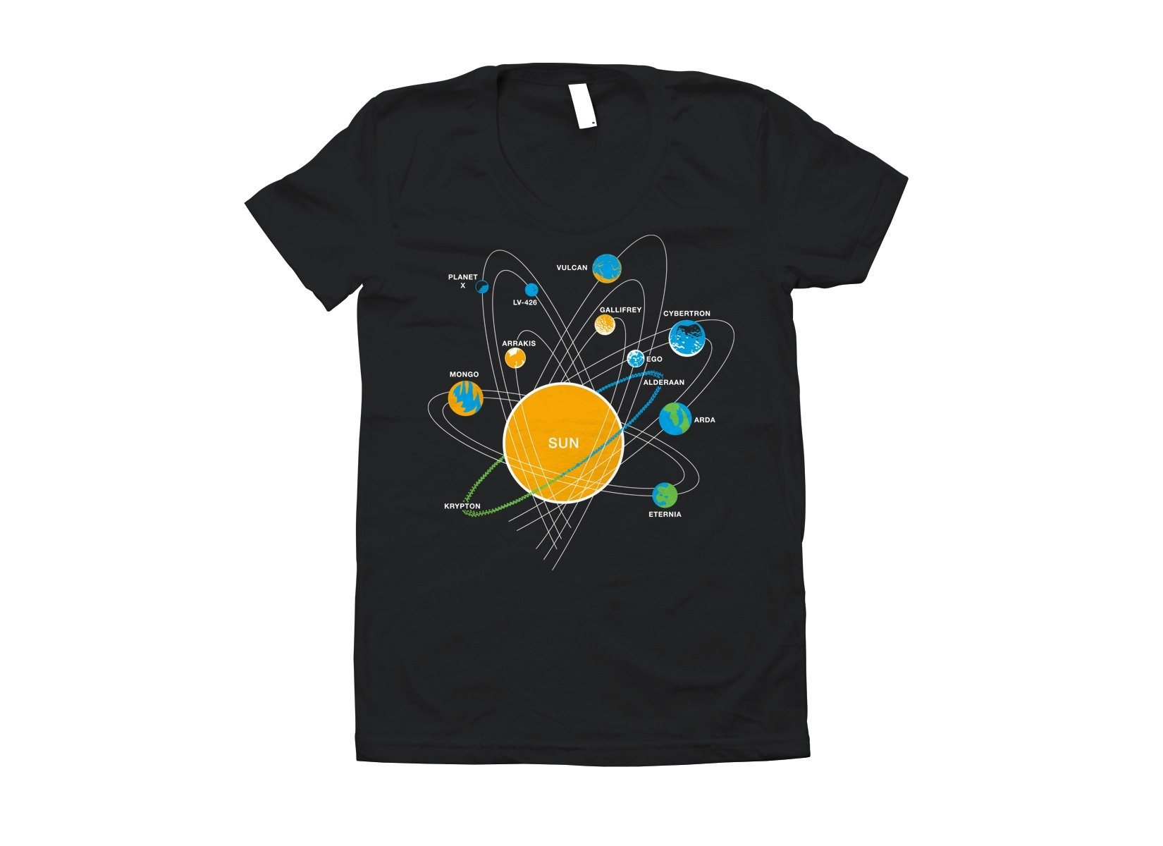 Solar System on Juniors T-Shirt