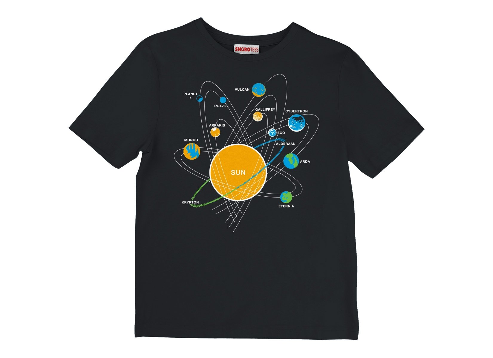 Solar System on Kids T-Shirt
