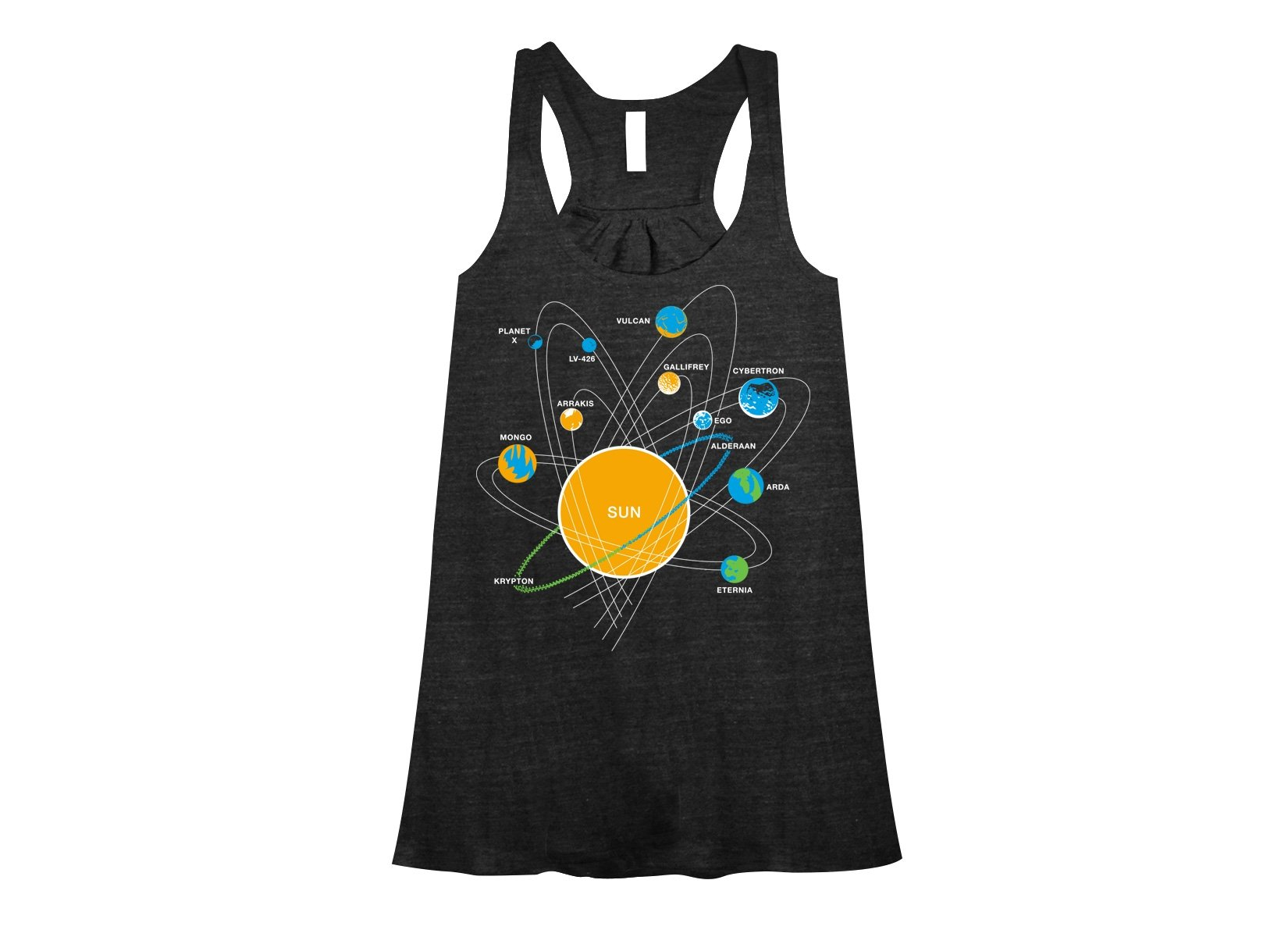 Solar System on Womens Tanks T-Shirt