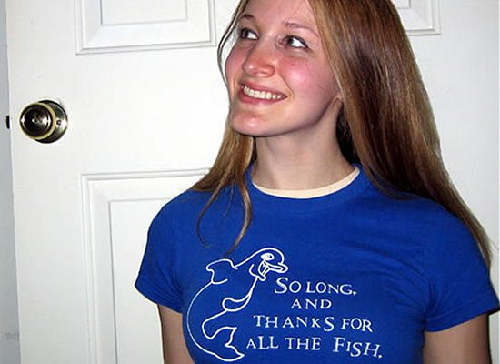 So long and thanks... on Juniors T-Shirt