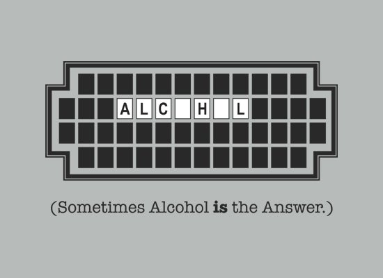 Alcohol Is The Answer on Mens T-Shirt