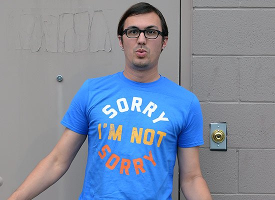 Sorry I'm Not Sorry on Mens T-Shirt