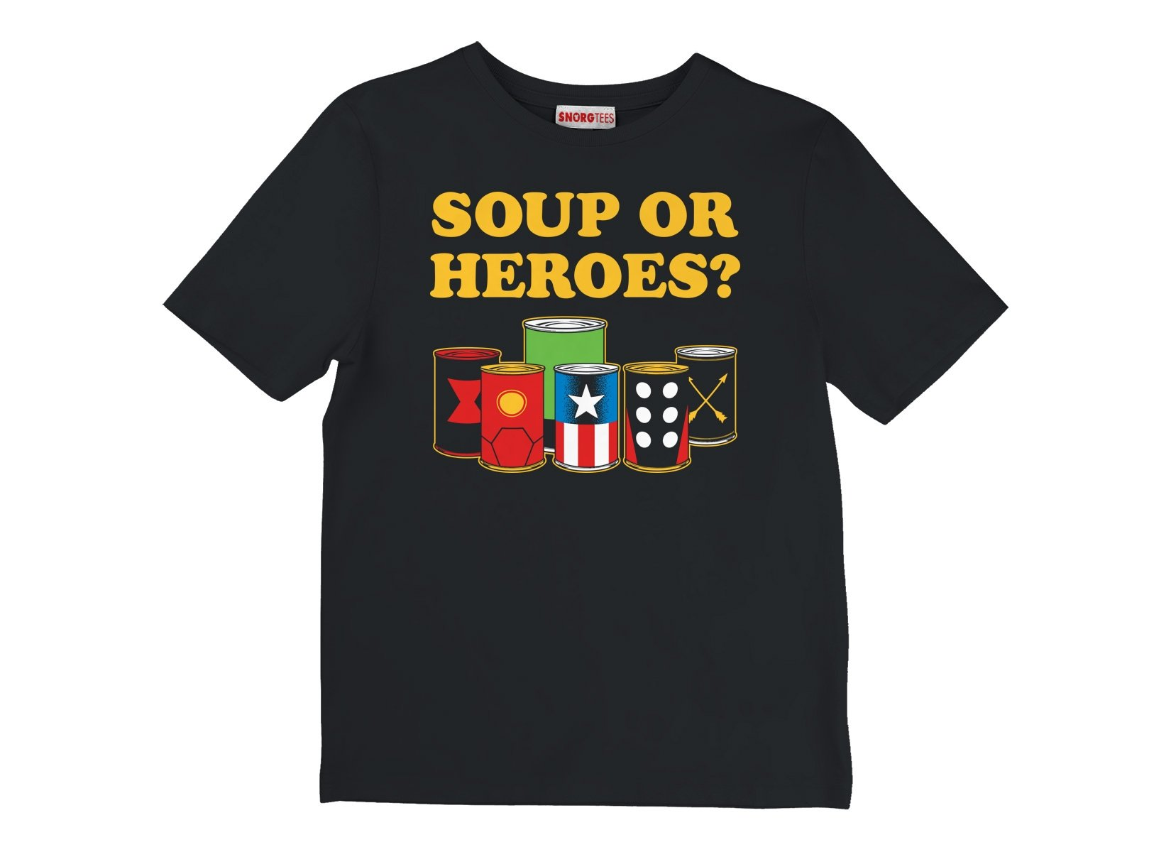 Soup Or Heroes? on Kids T-Shirt