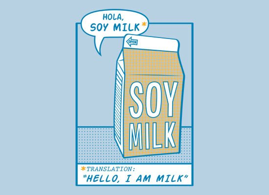 Hola, Soy Milk on Mens T-Shirt