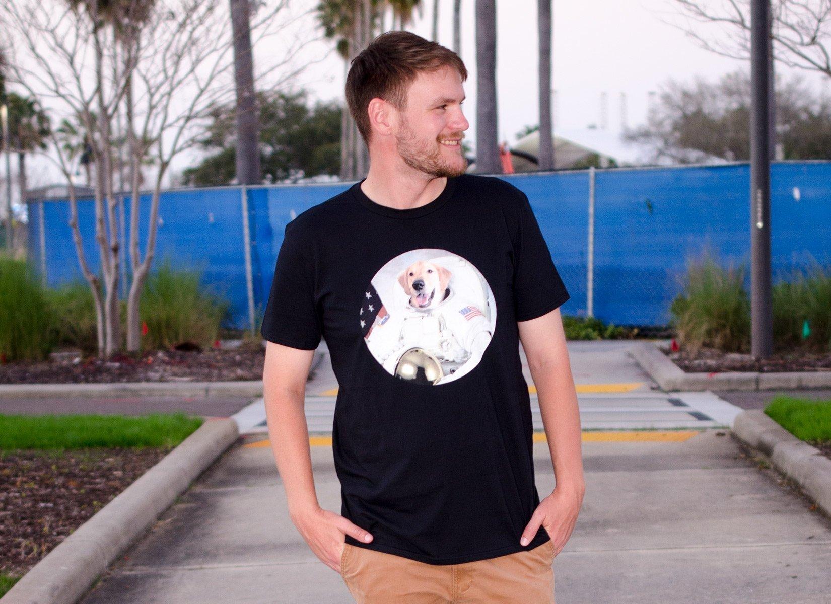 Astrodog on Mens T-Shirt