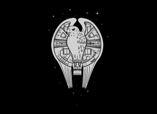 Fastest Falcon In The Universe on Mens T-Shirt