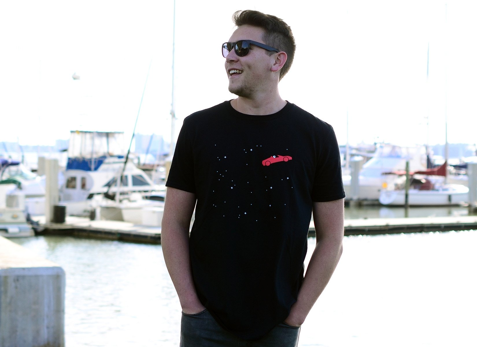 Space Road on Mens T-Shirt