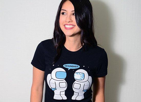 Space Sneeze on Juniors T-Shirt