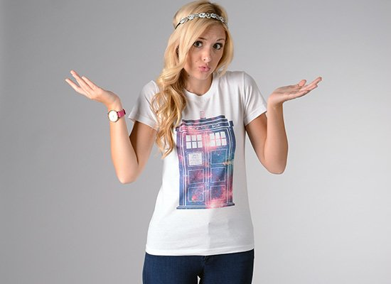 Police Box on Juniors T-Shirt