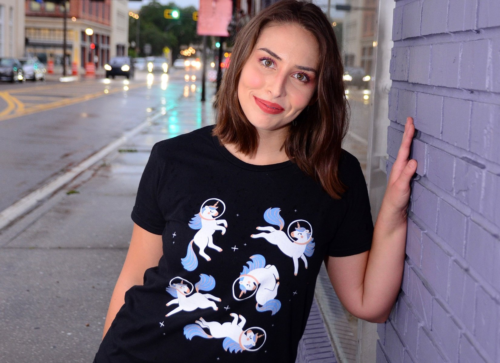 Unicorns In Space on Womens T-Shirt