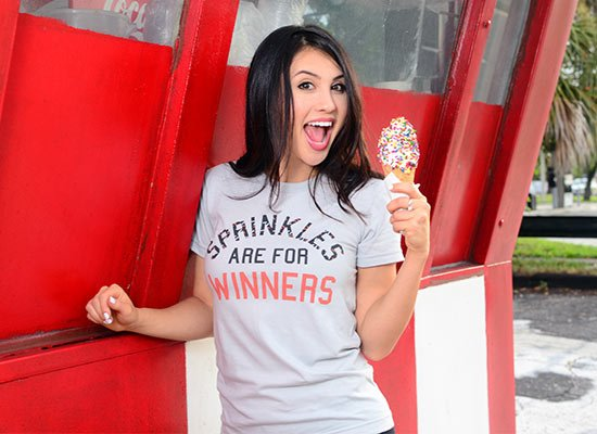 Sprinkles Are For Winners on Juniors T-Shirt
