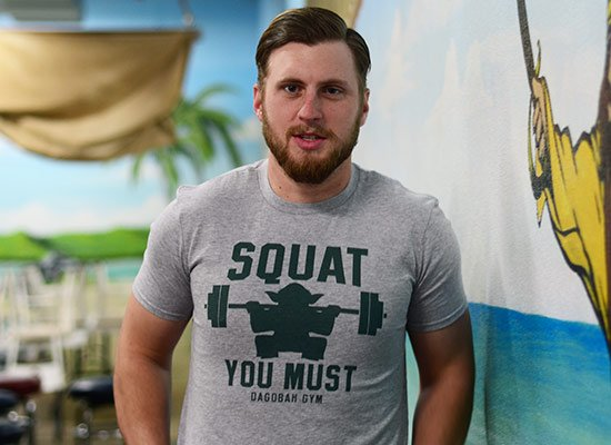 Squat You Must on Mens T-Shirt
